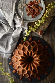 Cinnamon Swirl and Pecan Bundt