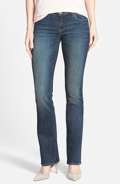 Another pair of jeans with a good fit, but a bit long! KUT from the Kloth 'Natalie' High Rise Bootcut Jeans