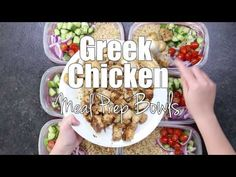 A week full of tastiness The Greek Chicken Meal Prep Bowls. You will be ready for the week in no time. Creating a lunch packing station will save you Lunch Meal Prep, Meal Prep Bowls, Easy Meal Prep, Healthy Meal Prep, Quick Meals, Healthy Eating, Chicken Meal Prep, Chicken Recipes, High Protein Recipes