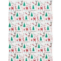 <b>A Paper Source exclusive - you'll only find it here!</b><br><br>This stylish wrapping paper from Meri Meri is decorated with cute holiday characters in a fresh color palette. Pair with a large asso
