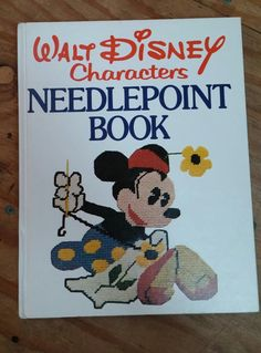 Disney Needlepoint Book Needlework Tapestry by RospersEmporium
