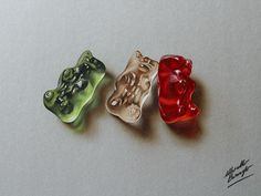 Gummy Bears Drawing - Marcello Barenghi