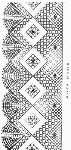 Por fin se han solucionado los problemas técnicos, y podemos subir un picado al blog. Este en concreto lleva 41 pares y se realizaría con ... Bobbin Lace Patterns, Weaving Patterns, Filet Crochet, Crochet Stitches, Bobbin Lacemaking, Lace Art, Lace Jewelry, Tatting Lace, Needle Lace