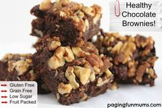 Yummy healthy chocolate brownies