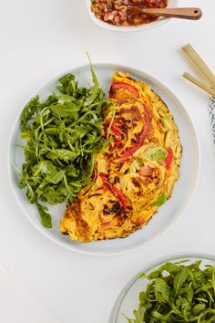 Vegetarian Western Omelette with Spiralized Bell Peppers