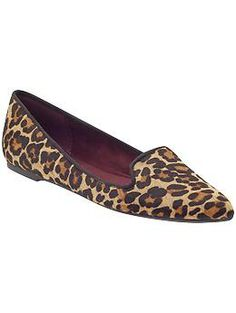 nine west sossi // piperlime (( i've been looking for the perfect leopard smoking flats for two years. these may finally be them ))