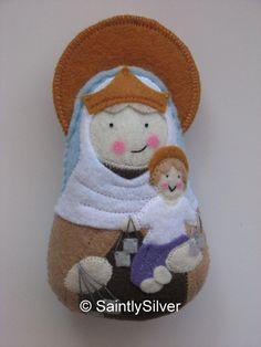 Our Lady of Mount Carmel Felt Saint Softie por SaintlySilver