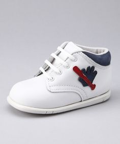 Take a look at this White & Navy Slugger Shoe by Kepner Scott on #zulily today!