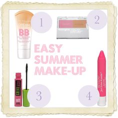 Easy Summer Makeup by mwroyce, via Polyvore