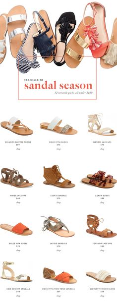 Up until, well — yesterday! — I had exactly one pair of wearable sandals sitting in my closet. Casual-yet-cute sandals (i.e., NOT flip flops) are the kind of thing I don't typically buy en masse, because Ialways feel I can't justify multiple pairssince I don't wear sandalsall that much and for any large part of …