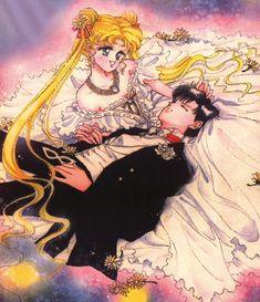 sailor moon and tuxedo mask wedding - Google Search