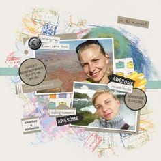 In the moment by Ania Archer. Digital scrapbooking layout made with World Traveler - Bundle by Marisa at Pixel Scrapper