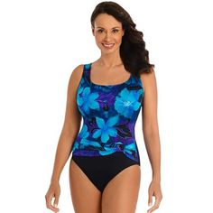 Women's Great Lengths Gilded Lily Tummy Slimmer One-Piece Swimsuit