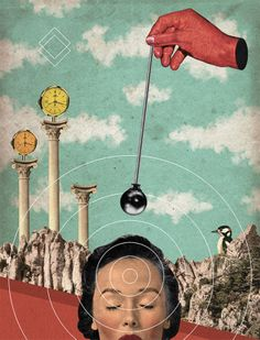 Collage by Randy Mora Collages, Surreal Collage, Surreal Art, Photomontage, Psy Art, Rene Magritte, Arte Pop, Psychedelic Art, Digital Collage