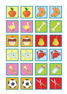 RECURSOS EN EDUCACIÓN INICIAL: Juego de memoria a colores con objetos diversos