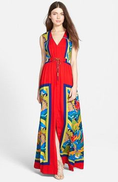 Plenty by Tracy Reese Sleeveless Slit Maxi Dress available at #Nordstrom
