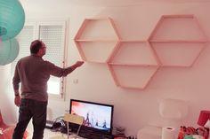 L'histoire des étagères hexagonales ♥ – Poulette Magique