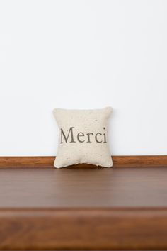 Merci TinyTalk Pillow | Thank You Gift | Thank You Card | French Merci Card | French Wedding Favor | Rustic Chich Decor | Sentimental Gift