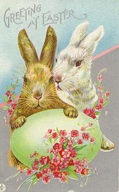 Arte em Chocolates: Chocolate Retrô: Cartões de Páscoa Vintage