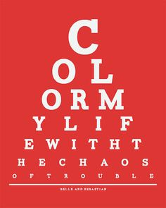 Belle And Sebastian Eye Chart Color My Life by ThePressingPigeon