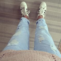 Perfect look. Perfect day. #zara#only#superstar#adidas