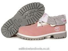 Women's Timberland RollTop Boots-Pink Grey £71.20