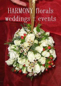 #flowergirl #kissingball #pomander #winterwedding Kissing Ball, Flower Girls, Table Decorations, Ring, Floral, Party, Flowers, Wedding, Valentines Day Weddings