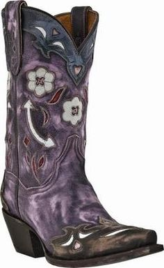 white and purple cowgirl boots | Dan Post Western Cowboy Boots | Al-Bar Ranch | English & Western Tack ...