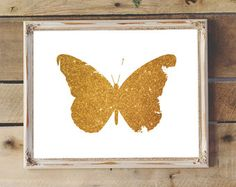 Gold Print 8x10 Instant Download Fish Art School by PetrichorBlue