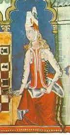 Camisa margomada, brial, and pellote. 13th century spain