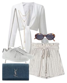"""Untitled #3571"" by camilae97 ❤ liked on Polyvore featuring Yves Saint Laurent, Oliver Peoples and SUGARFIX by BaubleBar"