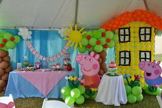 Pippa -  My next party was really fun to put together. Little Mia loves all things Peppa Pig. And, frankly, who doesn't! My own little boy l... - partyliciouseventspr.blogspot