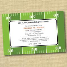 Free Super Bowl Invitation Template BARGAINS Pinterest