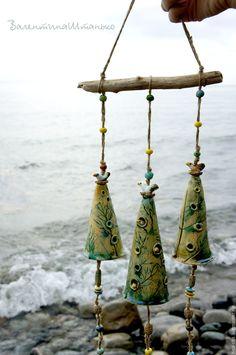 """Ceramic bells   Купить Колокольчики """"Гнезда"""" №2 - колокольчики керамические, колокольчики из глины, колокольчики в подарок, авторский колокольчик"""