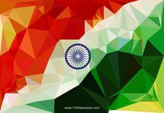 Indian Flag Background Vector Design