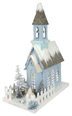 Fill your Christmas village with Cody Foster holiday houses & Folk Art from Traditions! Shop Cody Foster decorations for Easter, Halloween & Christmas. Christmas Village Houses, Christmas Village Display, Putz Houses, Christmas Villages, Fairy Houses, Christmas Decorations, Christmas Ornaments, Christmas Paper, Blue Christmas