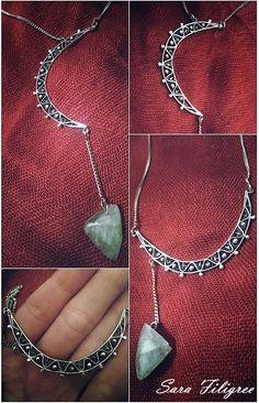 Handmade silver filigree 2 in 1 necklace...