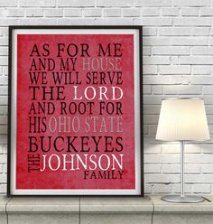 "Ohio State Buckeyes Customized Art Print- ""As for Me"" Parody- Unframed Print"