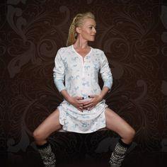 Stina nattkjole hos Idealias.com Law, Ruffle Blouse, Comfy, Long Sleeve, Sleeves, Shopping, Tops, Fashion, Moda