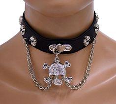 Gothic Halsband Glamouröser Totenkopf | 322