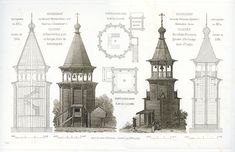 Art / Architecture / Russian architecture of monument Wooden Architecture, Russian Architecture, Concept Architecture, Fantasy Map, Medieval Fantasy, City Landscape, In Ancient Times, Russian Fashion, New York Public Library