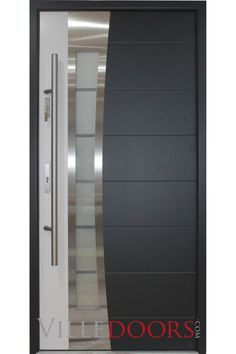 Exterior Steel Doors modern exterior doors: stainless steel modern entry door with