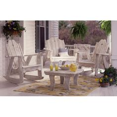 Uwharrie Nantucket Rocking Chair Finish: B.T. Aqua Wash