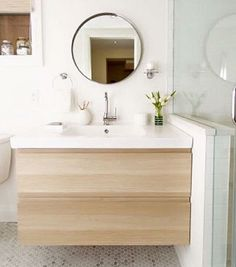 Aside from the IKEA kitchen cabinet's well-know quality, they exists in prevailing styles. Typically, an IKEA kitchen … Bathroom Cabinets Ikea, Ikea Bathroom Vanity, Ikea Sinks, Bathroom Interior, Modern Bathroom, Small Bathroom, Design Bathroom, Bathroom Storage, Minimalist Bathroom