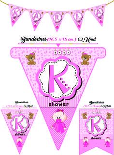 Baby Shower : Medidas y modelos de Banderines para cumpleaños.