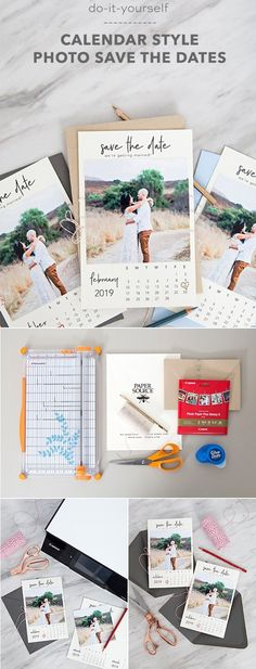 diy calendar style photo save the date for 2018 wedding #diywedding #diyweddingideas #weddingdecor