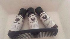 Adirondacks Beard Oil 1oz- (3 bottles) + Comb tea tree oil scent, alcohol-free #Adirondacks