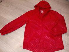 Odzież Używana Wschowa tel 574671215: Kurtka przeciwdeszczowa r.146-152 czerwona TU, det... Hooded Jacket, Golf, Athletic, Jackets, Fashion, Tunics, Jacket With Hoodie, Down Jackets, Moda
