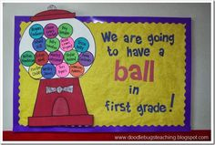 second grade welcome back to school bulletin board ideas | Back to School Bulletin Boards