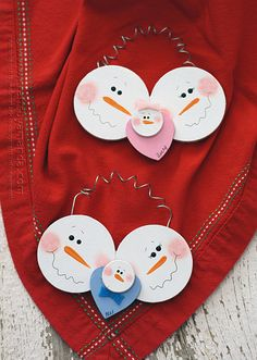 Baby's First Christmas Snowman Ornament by @Amanda Snelson Formaro Crafts by Amanda